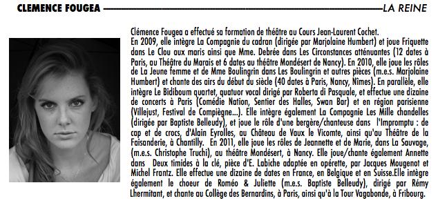 clemence-fougea-bio dans Les Comédiens
