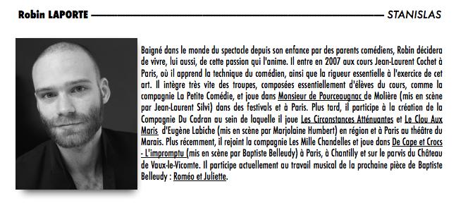 Les Comédiens dans Les Comédiens robin-laporte-bio1